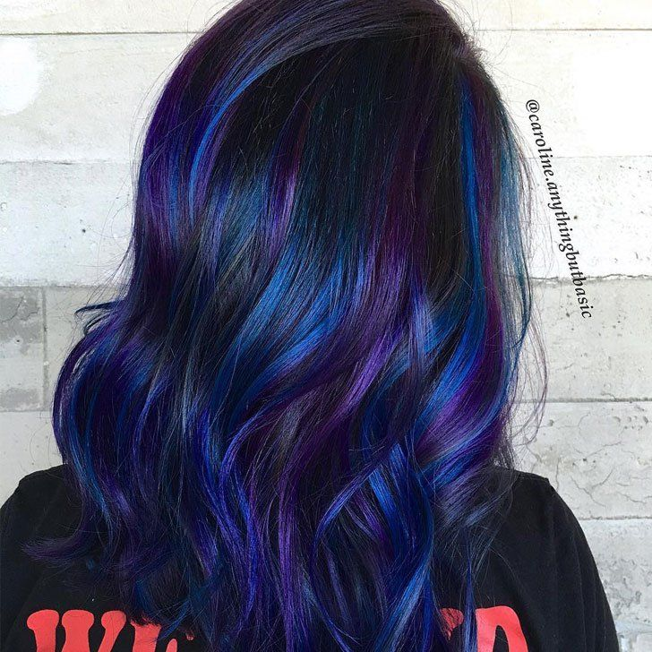 20 Awesome Blue Black Hair Looks To Raise Charm