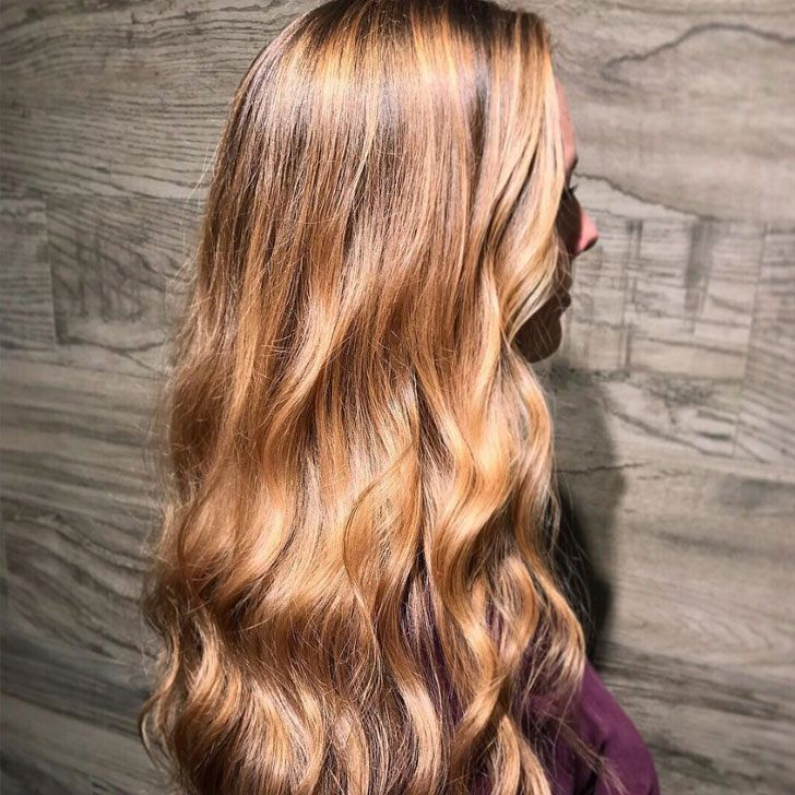 Strawberry Blonde Hair With Caramel Highlights The Best Blonde