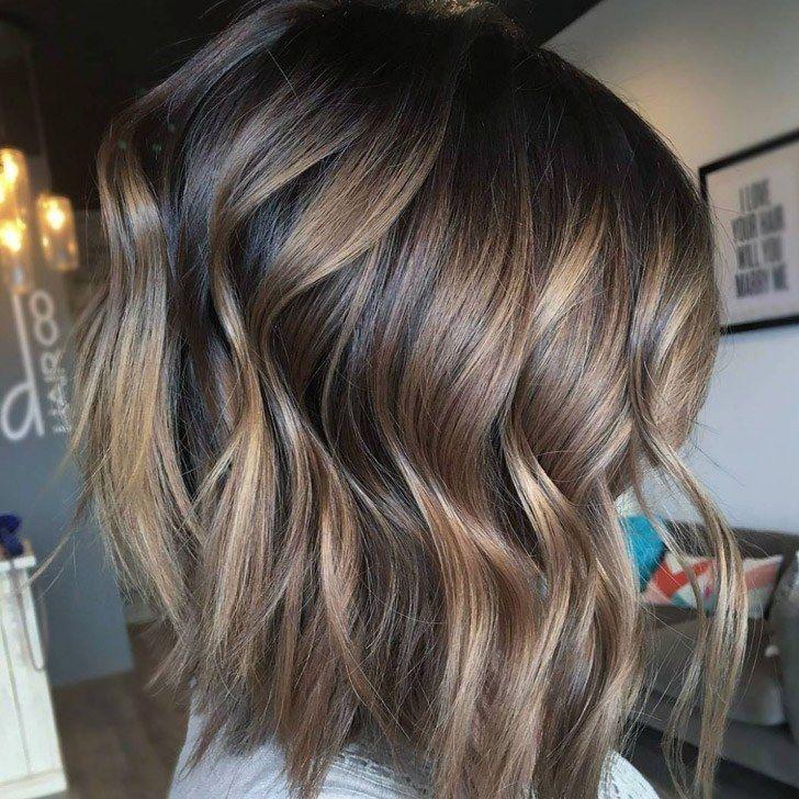 Best long bob hairstyles and haircuts ideas jpg 728x728 Brown lob balayage  layer hair pretty