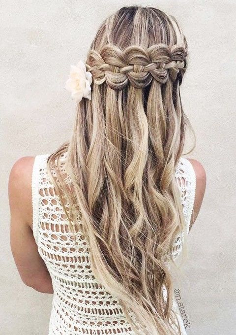 Special Occasion Hairstyle Ideas: Waterfall Braid Edition